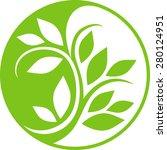 yin yang floral symbol | Shutterstock .eps vector #280124951