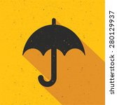 umbrella design on yellow...