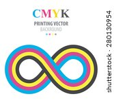 abstract cmyk infinity | Shutterstock .eps vector #280130954