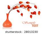 dry orange bouquet in a vase... | Shutterstock . vector #28013230