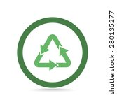 sign waste processing  web icon.... | Shutterstock .eps vector #280135277