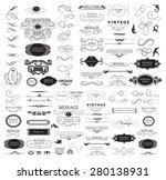 set of calligraphic elements... | Shutterstock .eps vector #280138931