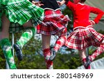 traditional scottish highland... | Shutterstock . vector #280148969