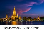 Wat Arun Temple At Twilight In...