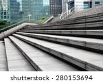 Modern City Building Stairs
