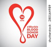 world blood donor day... | Shutterstock .eps vector #280164989