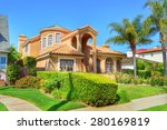 beautiful homes and estates in ... | Shutterstock . vector #280169819