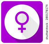 female pink flat icon female... | Shutterstock . vector #280178174