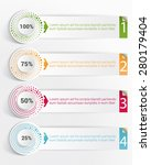 template info graphic with... | Shutterstock .eps vector #280179404