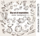 big set of vegetables. vector... | Shutterstock .eps vector #280184675