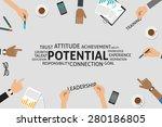 vector potential concept ... | Shutterstock .eps vector #280186805