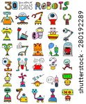 thirty doodle icons... | Shutterstock . vector #280192289