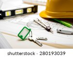 tools to design new homes... | Shutterstock . vector #280193039