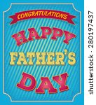 happy fathers day card vintage... | Shutterstock .eps vector #280197437