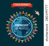 friendship of peoples vector...   Shutterstock .eps vector #280199777