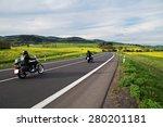 motorcycles traveling along an... | Shutterstock . vector #280201181