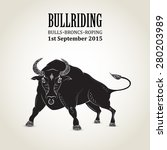 Rodeo Invitation With Bull Wit...