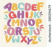 Abstract Alphabet Colorful...