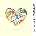 symbol of  heart of... | Shutterstock .eps vector #280204685