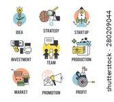 set the startup logo. separate ... | Shutterstock .eps vector #280209044