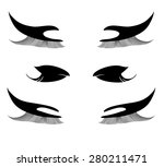 thick eyelashes and make up... | Shutterstock .eps vector #280211471