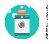 flat design vector illustration ... | Shutterstock .eps vector #280226351