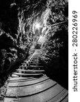 Small photo of Scene from Ialomita cave, near Padina plateau, Bucegi, Romania
