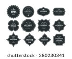 set of retro styled black... | Shutterstock .eps vector #280230341