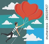 illustration of a man falling... | Shutterstock .eps vector #280235927