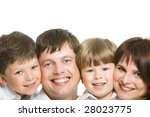 faces of four family members... | Shutterstock . vector #28023775
