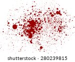Vector Splatter Red Color...