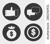 business icons design  vector... | Shutterstock .eps vector #280246931
