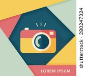 camera flat icon with long... | Shutterstock .eps vector #280247324