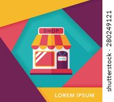 shopping store flat icon with... | Shutterstock .eps vector #280249121