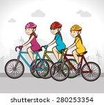 bike design over white... | Shutterstock .eps vector #280253354