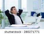 businessman daydreaming in the... | Shutterstock . vector #280271771