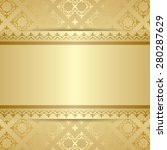 gold pattern with ornament and... | Shutterstock . vector #280287629