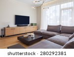 interior of living room with tv | Shutterstock . vector #280292381
