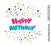 colorful birthday background  | Shutterstock .eps vector #280293281