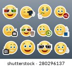 set of funny beautiful smiles... | Shutterstock .eps vector #280296137