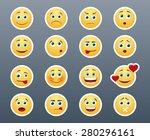beautiful joyful and sad smiley ... | Shutterstock .eps vector #280296161
