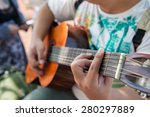 playing guitar during the... | Shutterstock . vector #280297889