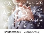 businessman touch button web... | Shutterstock . vector #280300919
