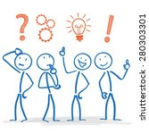stickmen during planning... | Shutterstock .eps vector #280303301