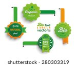 Collection of 4 bio labels. Eps 10 vector file. | Shutterstock vector #280303319