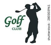 golf club sign   vector... | Shutterstock .eps vector #280303961