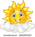 Smiling Sun Cartoon Mascot...