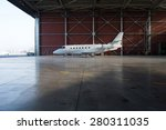 business jet airplane is in... | Shutterstock . vector #280311035