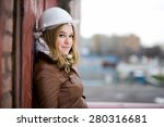 beautiful young girl student... | Shutterstock . vector #280316681