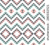 seamless pattern with ethnic... | Shutterstock .eps vector #280332521